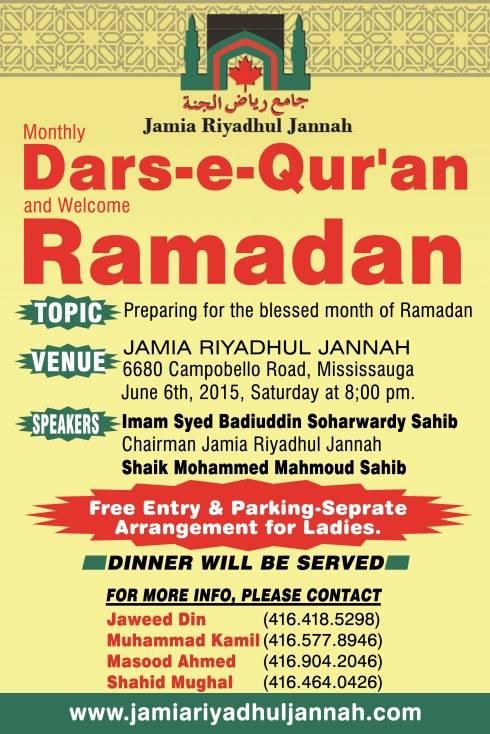 Dars-e-Qur'an-Mississauga